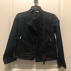 New York Company Blue Black Moro Denim Jacket XS